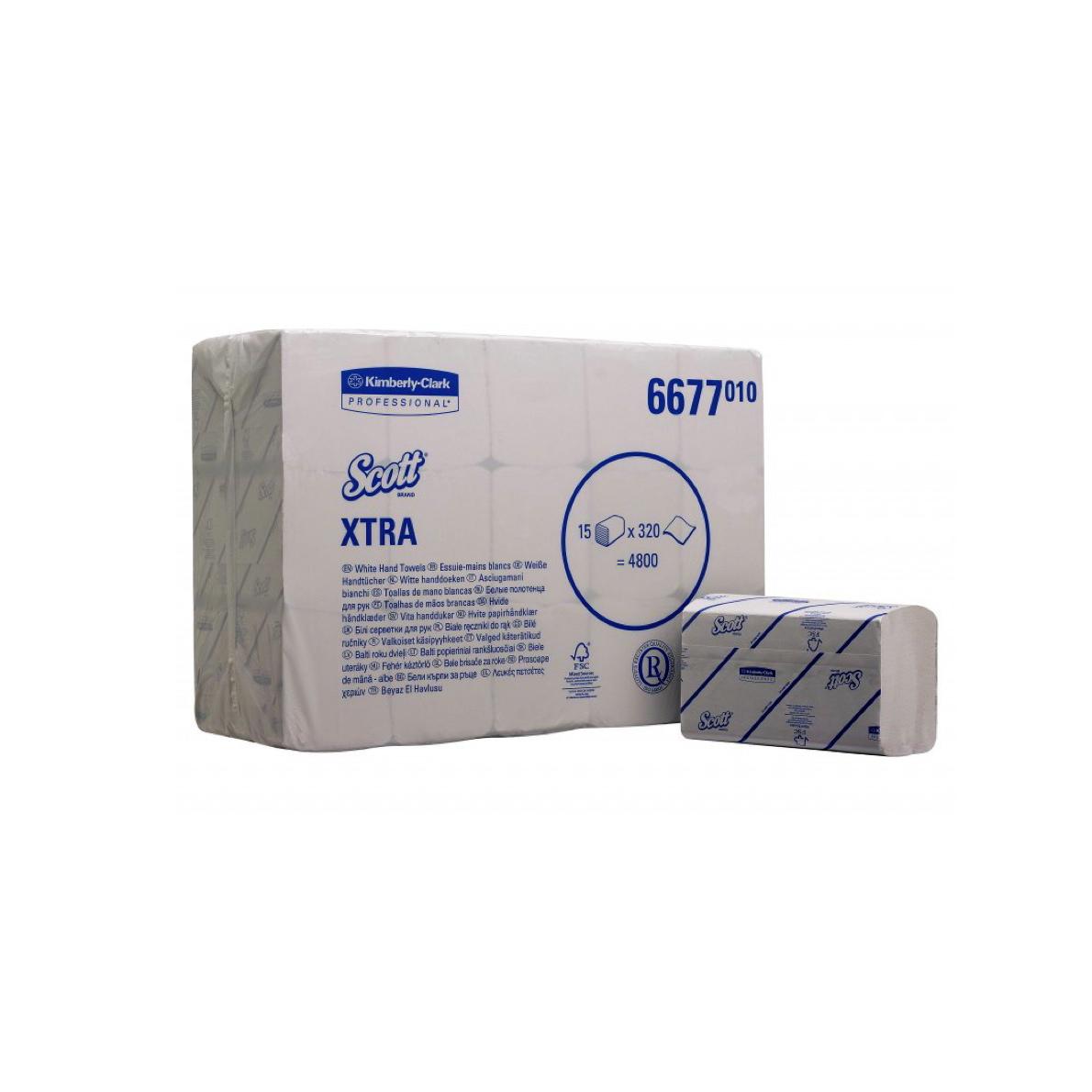 Papirnate brisače Scott Xtra tip V 4800 Kimberly Clark