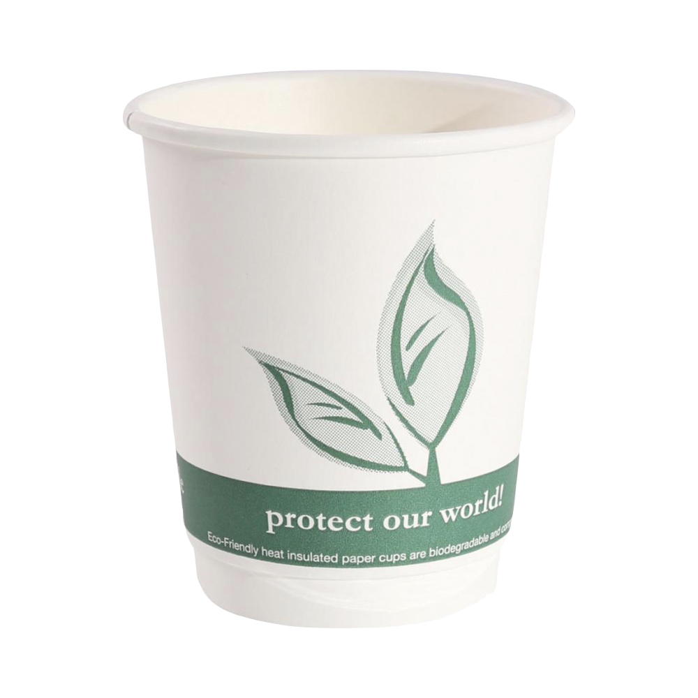 Biorazgradljiv kozarec Coffee iz kartona s PLA premazom 300 ml