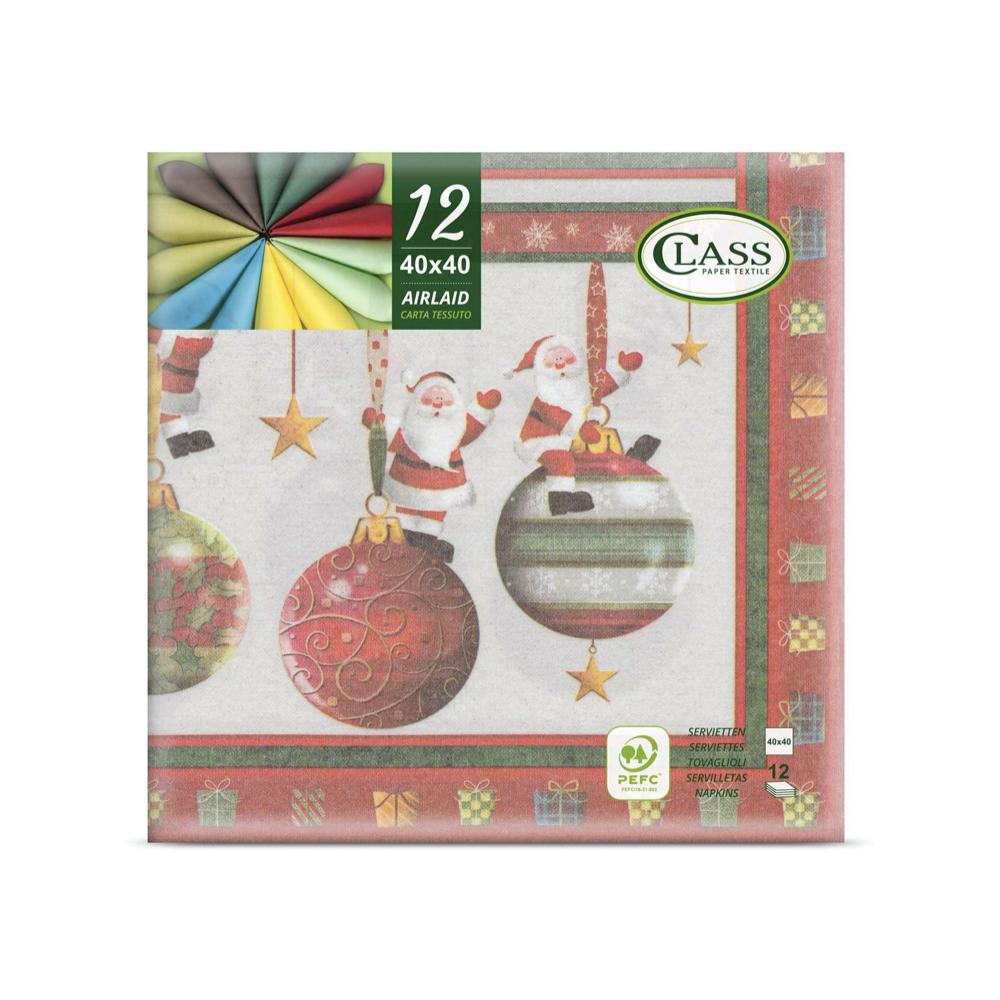 Papirnate serviete Airlaid Ribbon Multicolore 40 x 40 cm