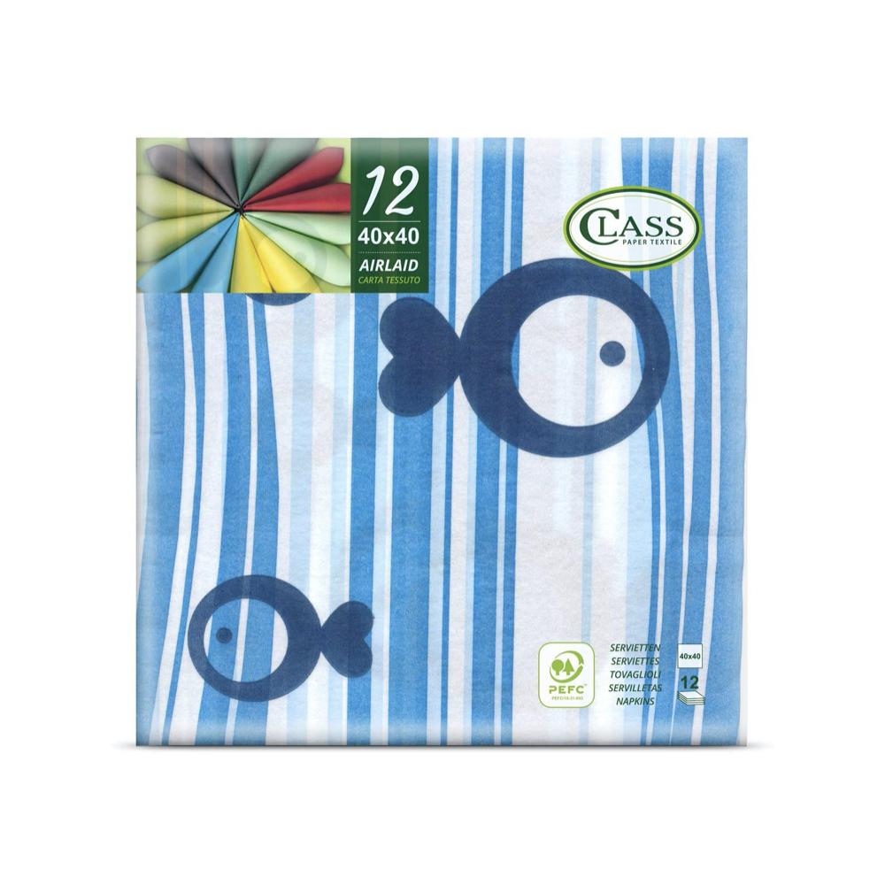 Papirnate serviete Airlaid Scuba Blu 40 x 40 cm