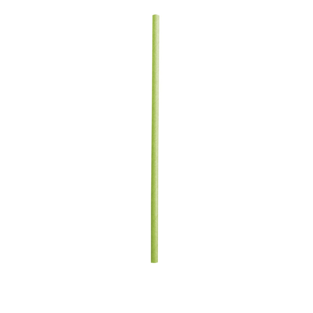 Papirnata slamica Classic enobarvna 19,7 cm