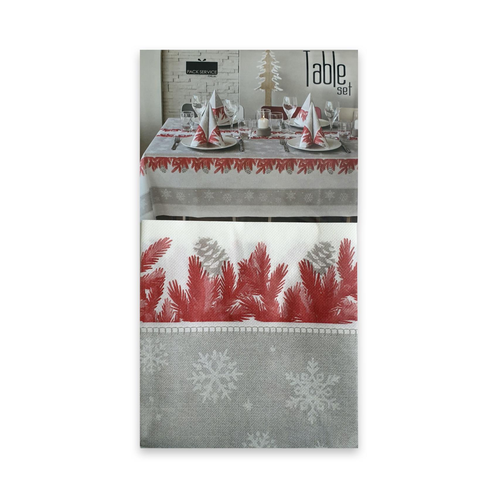Papirnat prt Forest Rosso SET 240 x 140 cm