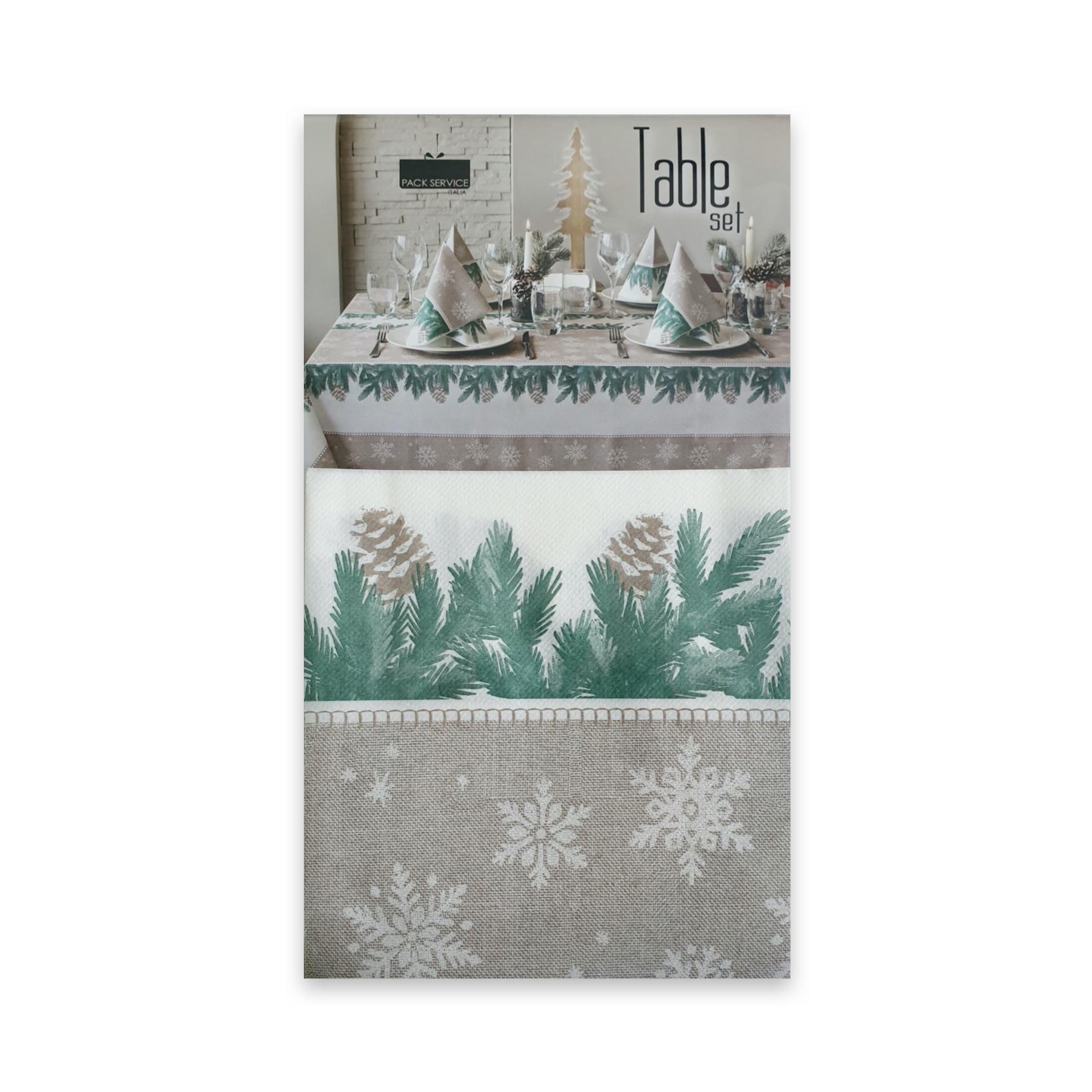 Papirnat prt Forest Verde SET 240 x 140 cm