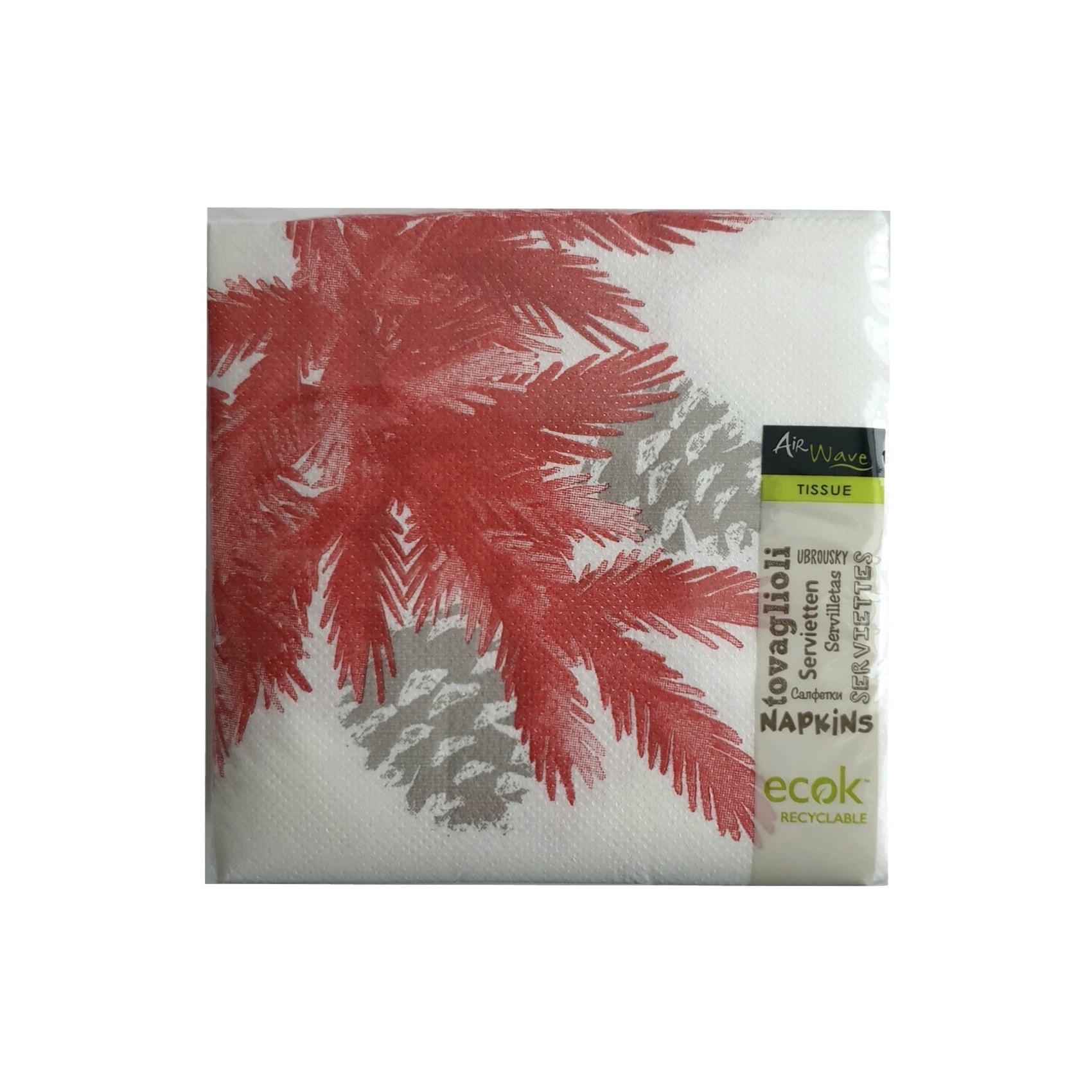 Papirnate serviete AirWave Forest Rosso 24 x 24 cm