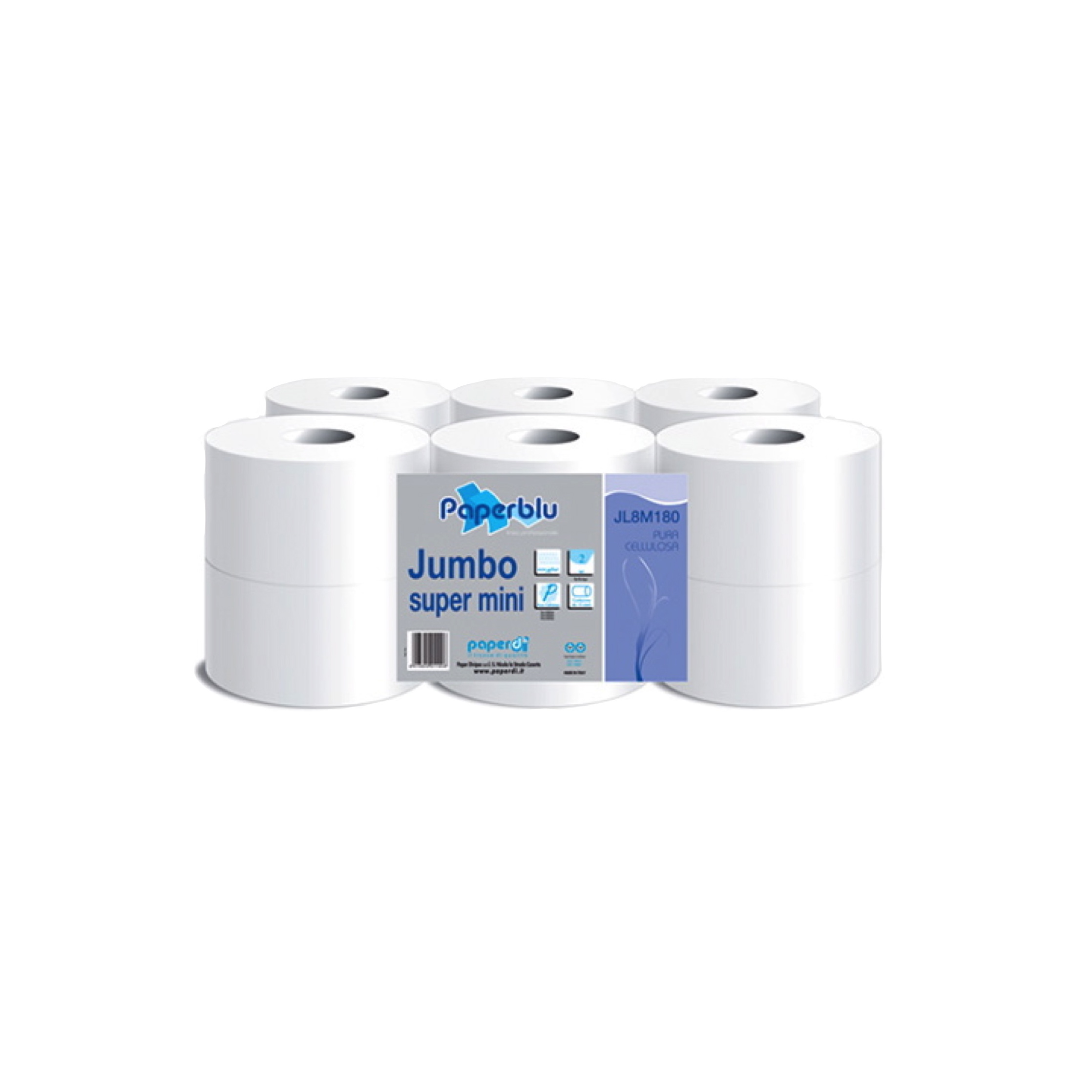Toaletni papir Jumbo Mini 180 2 sl.
