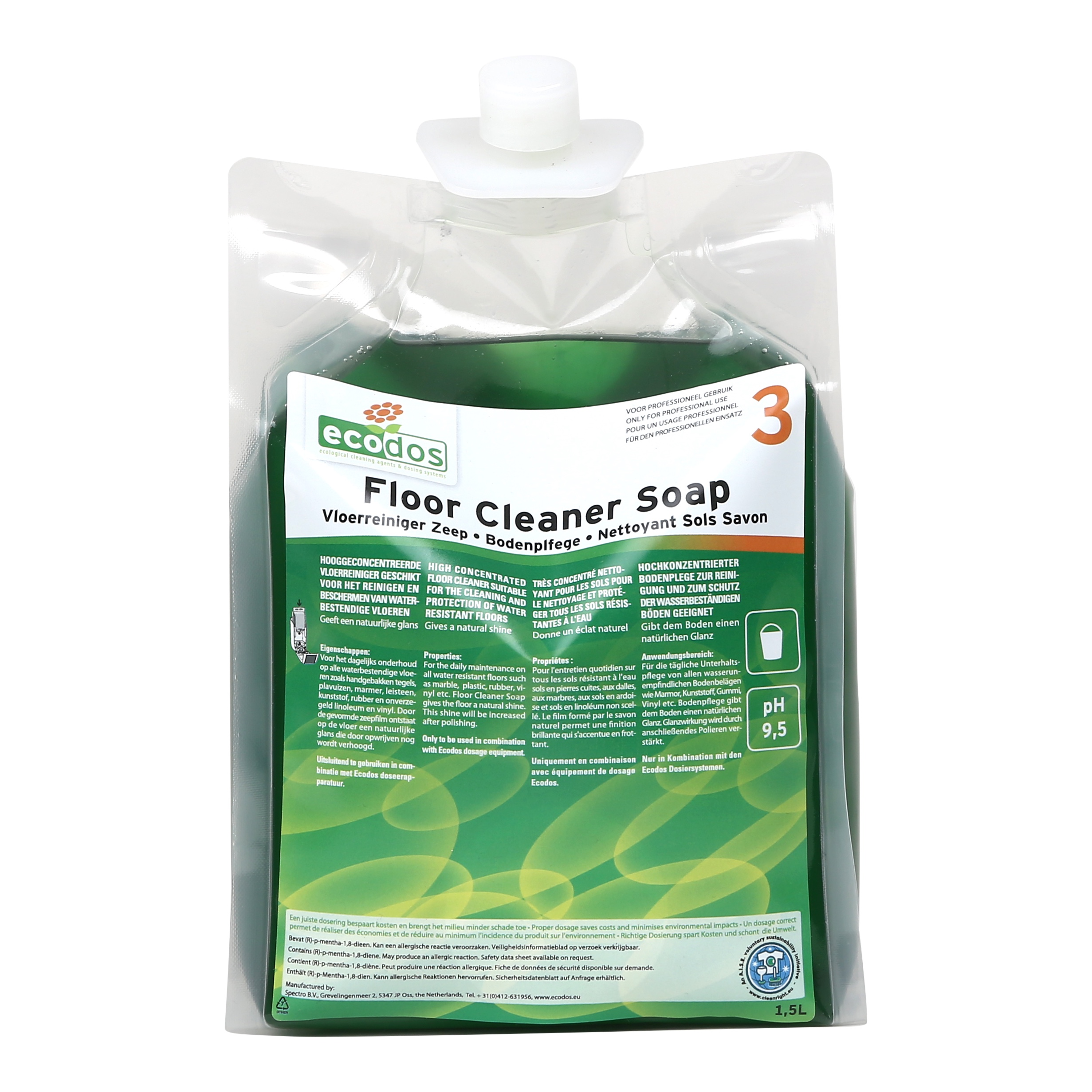 FLOOR CLEANER SOAP ECODOS easy system