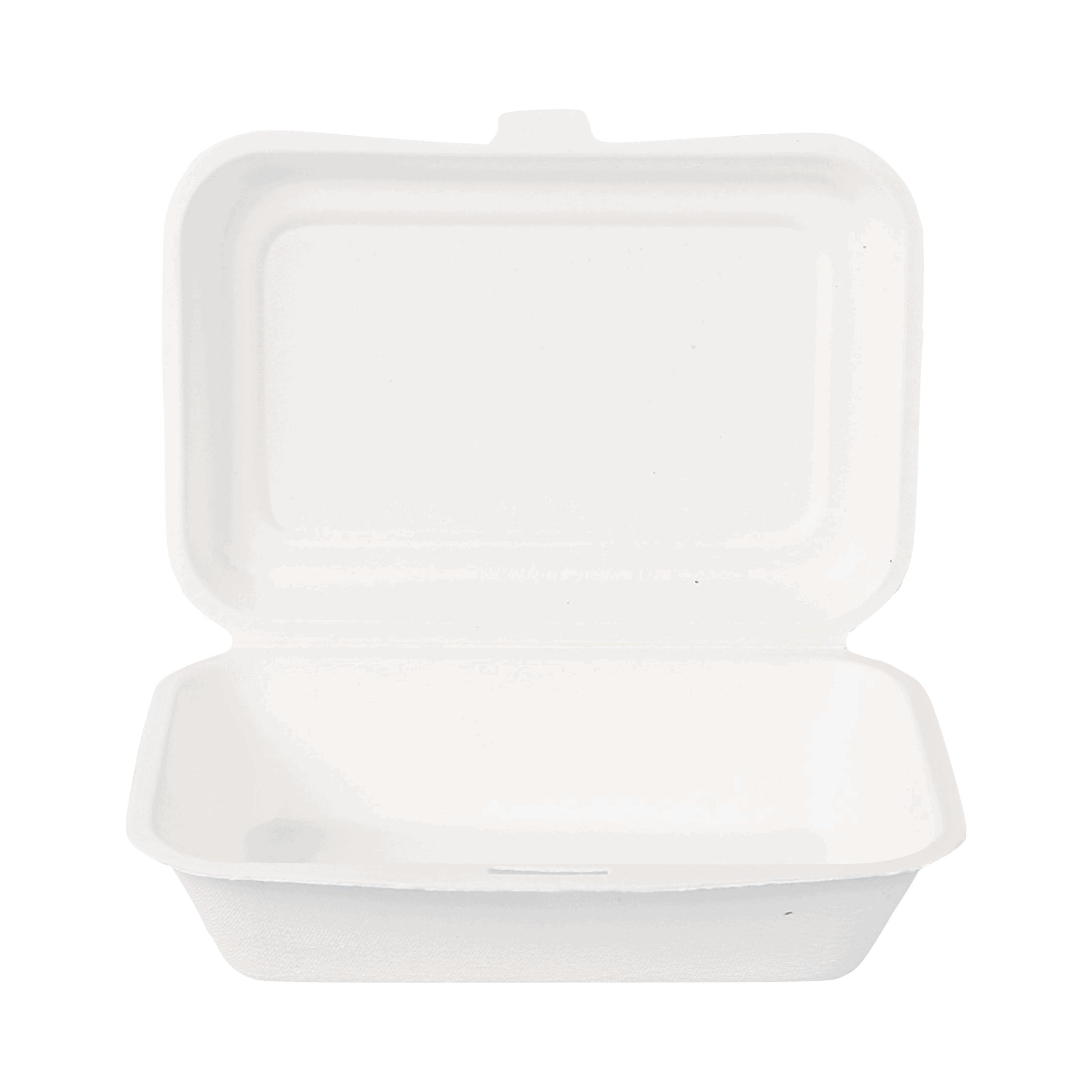 Biorazgradljiva posodica Single | Sladkorni trs | 12,5 x 17 x 4.9 cm | 50/1
