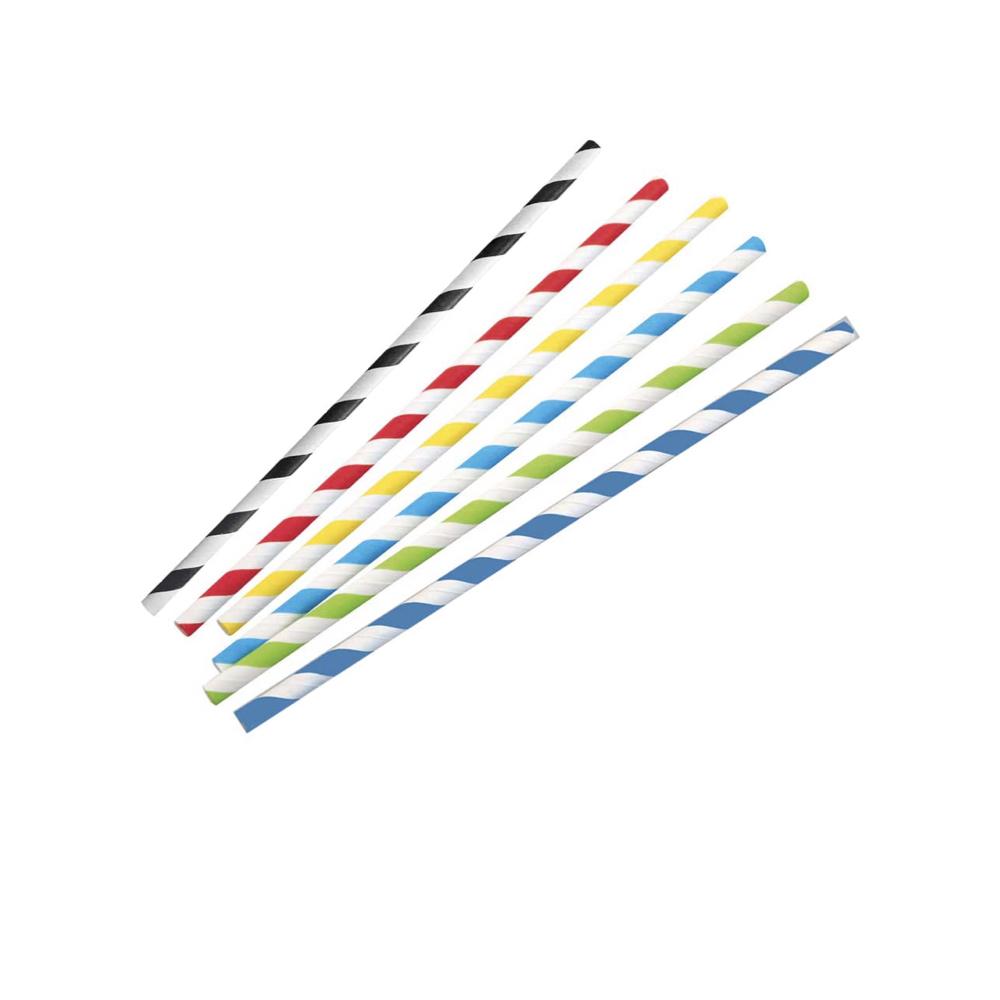 Papirnata slamica Classic s črtami 13 – 19,7 cm