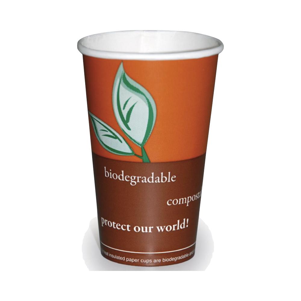 Biorazgradljiv lonček Coffee iz kartona s PVA premazom 2 sl. 300 ml