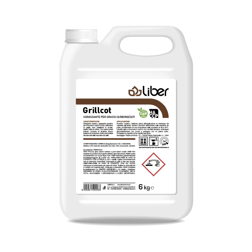 Čistilo za odstranjevanje karbonirane umazanije GRILLCOT 6 kg