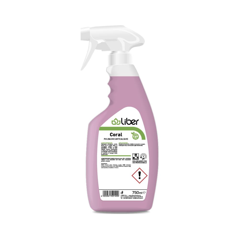 Čistilo za odstranjevanje vodnega kamna na organski kislini CORAL 750 ml