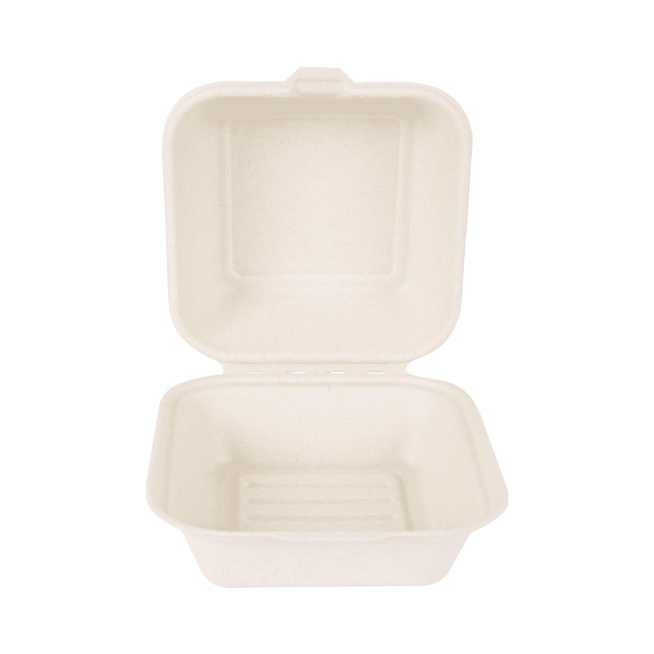 Biorazgradljiva posodica Hamburger | sladkorni trs | 15 x 15 x 8 cm | 50/1