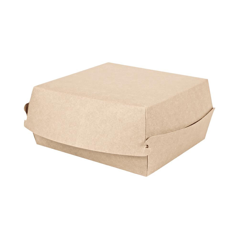 Biorazgradljiva posodica BurgerBox L | kraft papir | 19 x 19 x 8 cm | 100/1